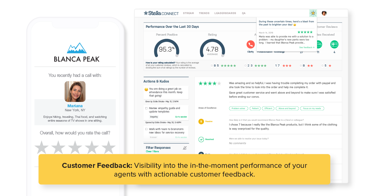 Share Customer Feedback Directly With Agents Inline