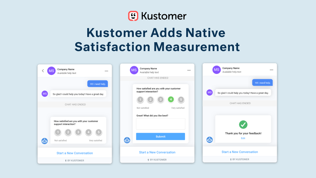 Kustomer Adds Native Satisfaction Measurement