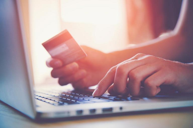 Filling out card information online