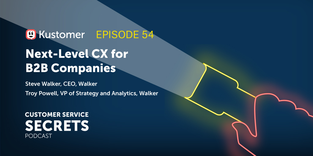 Next-Level CX for B2B Companies With Steve Walker and Troy Powell TW