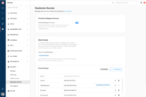 Manage Access to Your Kustomer Instance with Kustomer Access Settings
