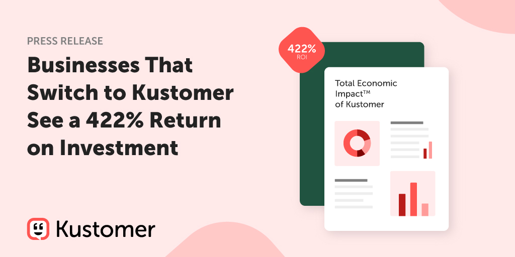 Total Economic Impact™ Report Finds Kustomer's CX Platform Produces More than 400% ROI TW